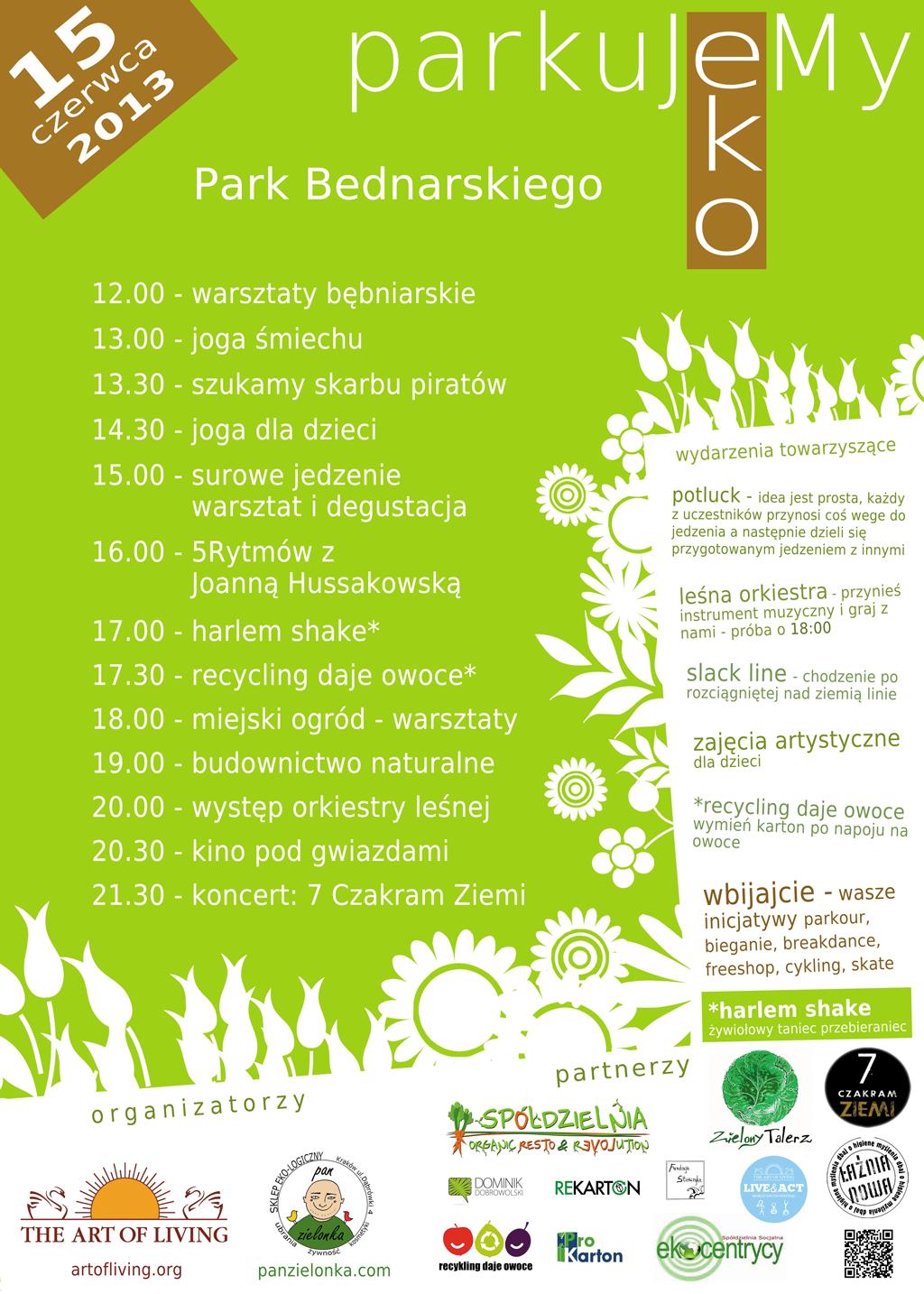 ParkuJeMyEko - plakat