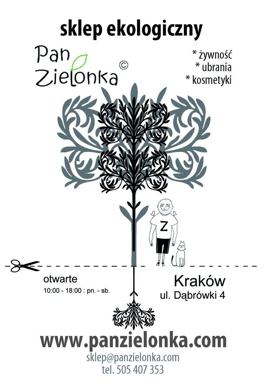 Pan Zielonka - ulotka przód