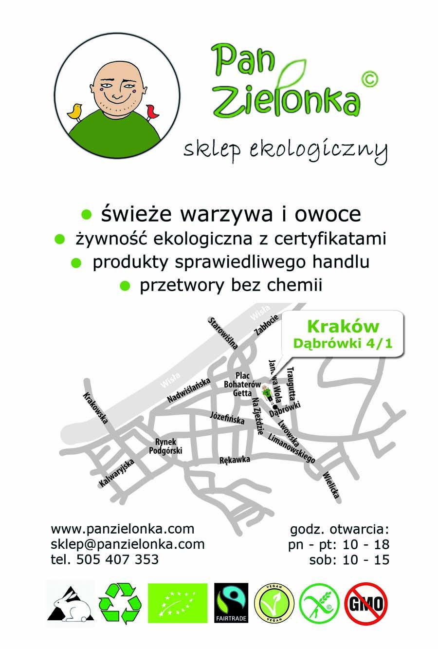 Pan Zielonka - ulotka jednostronna
